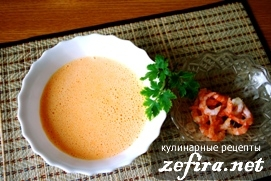 Молочный суп с креветками – кулинарный рецепт
