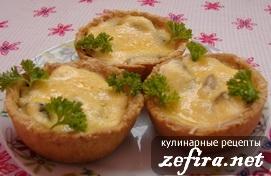 Корзиночки из лаваша с грибами – кулинарный рецепт