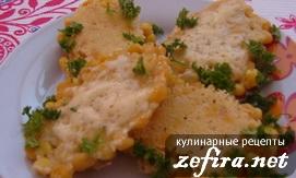 Рецепт кукурузных блинчиков - Кулинарные рецепты любящей жены