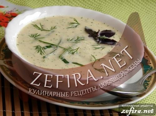 Рецепт холодного супа с кабачками