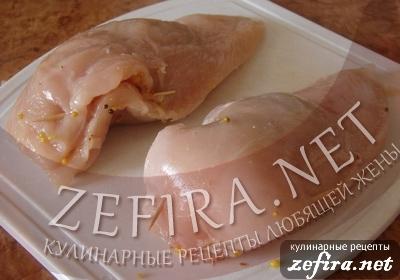 """Куриное филе """"Пирожок"""" – кулинарный рецепт"""