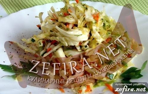 рецепты простых салатов с яблоком