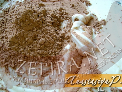 "Пирог ""Зебра"" на кефире – кулинарный рецепт"