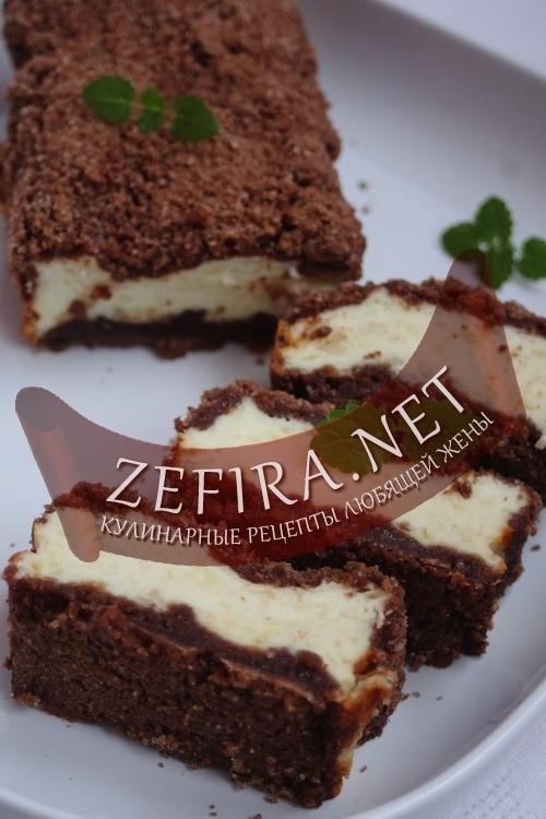 рецепт торт творог шоколад