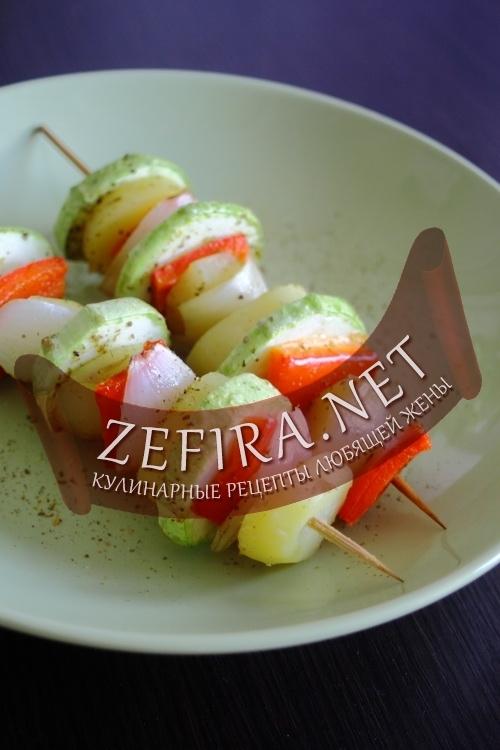 Овощи на гриле, овощной шашлык