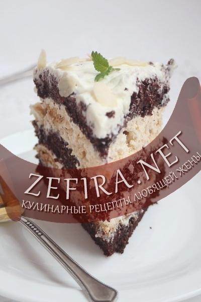 торт шоколадный с меренгой рецепт