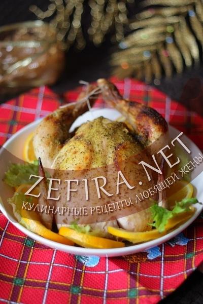 """Запеченная в духовке курица с апельсинами """"Новогодняя"""" (фото)"""