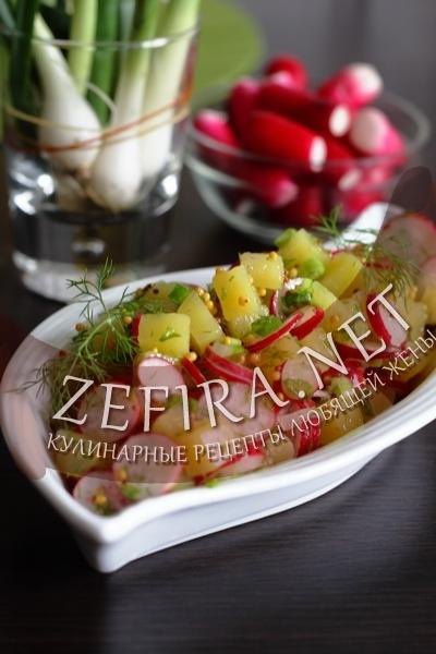 Салат с картошкой (фото)
