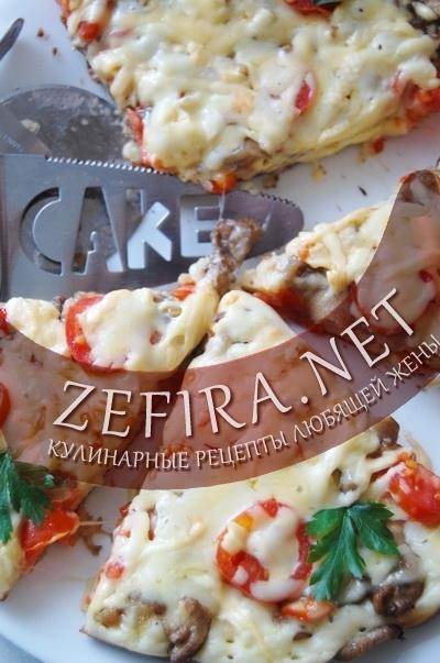 Быстрая пицца на сковороде – рецепт на сметане
