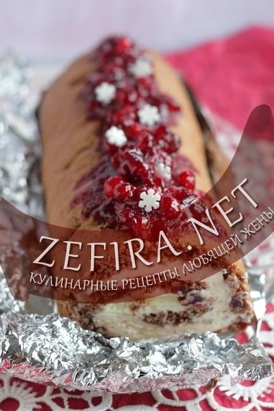 """Клюквенный пирог """"Новогодняя сказка"""" – кулинарный рецепт"""