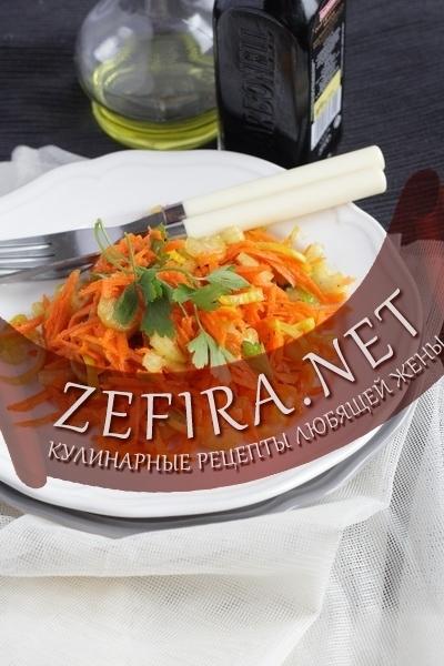 Рецепт очень вкусного салата из  сырой моркови