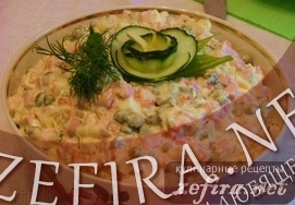 Советский рецепт салата «Оливье»
