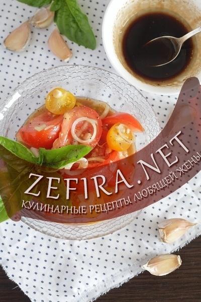 Салат из свежих помидоров с маслом