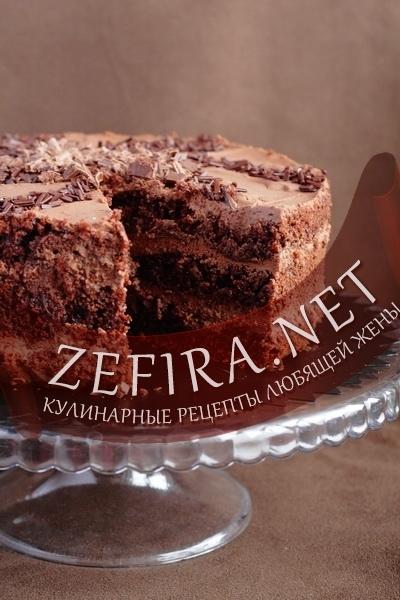 кулинарный рецепт шоколадный торт простой с фото