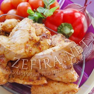 Куриные крылышки с медом в духовке