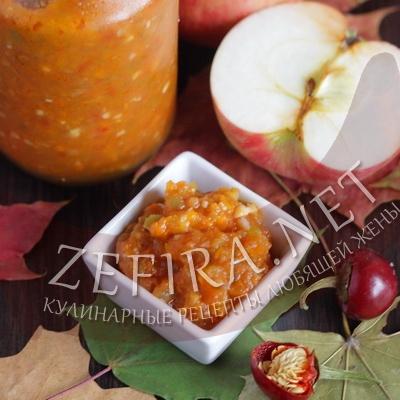 Рецепт аджики с яблоками — заготовка на зиму