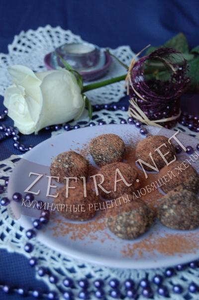 Трюфельные конфеты - рецепт и фото