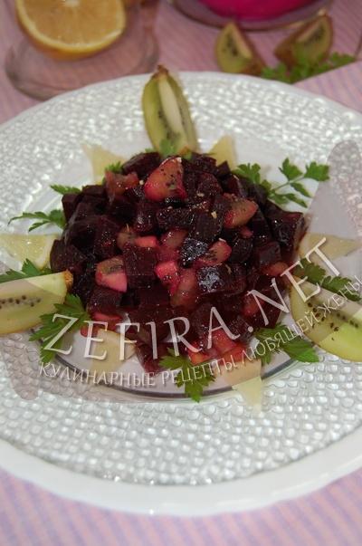 Салат из вареной свеклы с киви – рецепт и фото