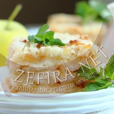 Рецепт вкусного насыпного яблочного пирога