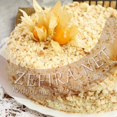 Простой сметанный торт на сковороде