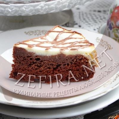 Шоколадный пирог с кабачками и творогом
