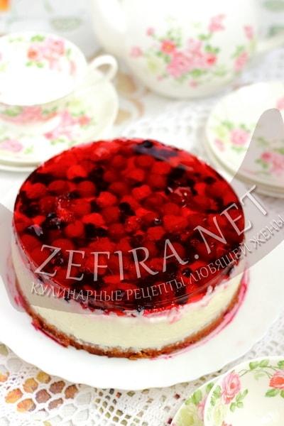 Рецепт торта с желе и ягодами