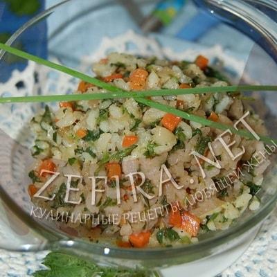 Зеленый рис с крапивой