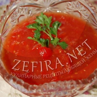 Соус – приправа из помидоров и перца на зиму