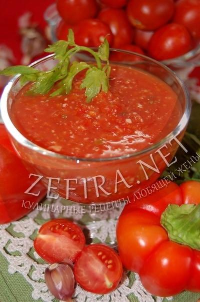 быстрая аджика с помидорами рецепт