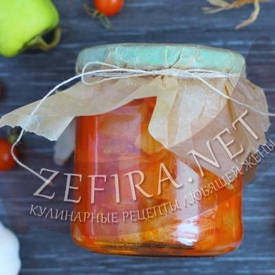 Лечо из кабачков, помидор и перца — заготовка на зиму