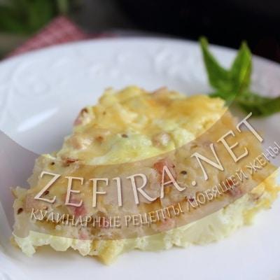 Запеканка из цветной капусты с яйцом и сыром
