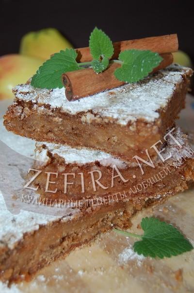 Сухой пирог с яблоками и корицей «Венгерский» - рецепт и фото