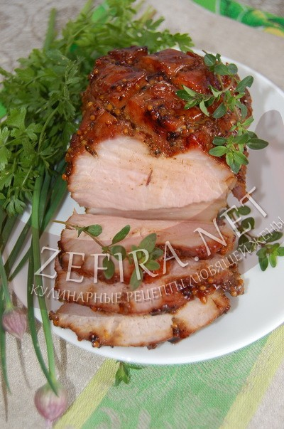 Свинина с глазури в духовке - рецепт и фото