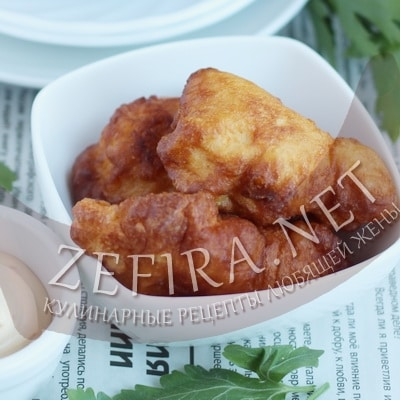 Хрустящее куриное филе в кляре на сковороде
