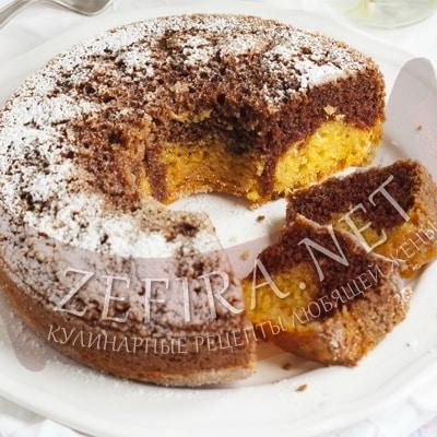 Постный пирог из тыквы в духовке