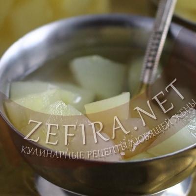 Рецепт компота из кабачков на зиму