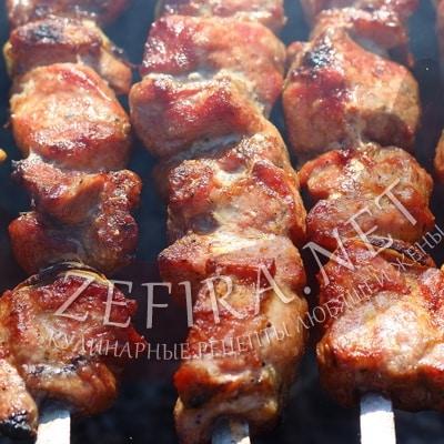 сочный шашлык из свинины рецепт гранатовом соке с минералкой