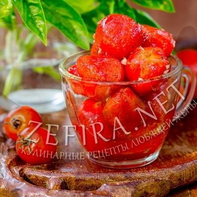 Быстро маринованные помидоры черри – рецепт с чесноком
