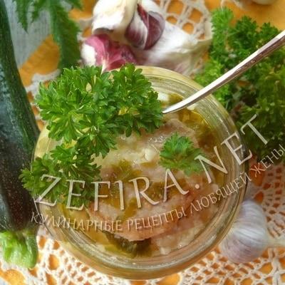 Заготовка из жареных кабачков на зиму – рецепт с чесноком и петрушкой