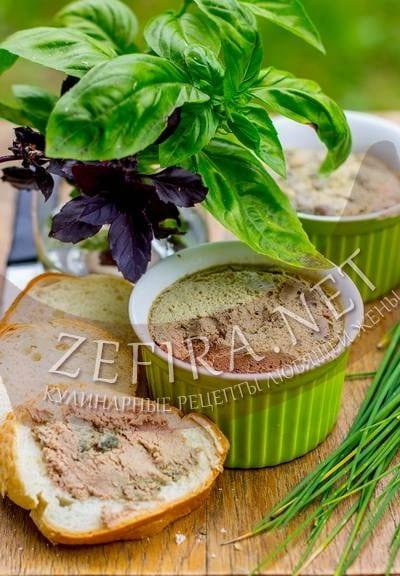 Нежный паштет из печени запеченный в духовке - рецепт и фото