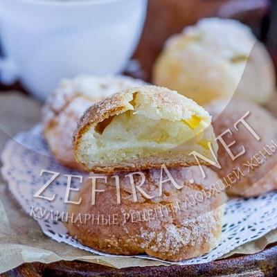 Очень вкусное печенье с половинками яблок «Румяные щечки»