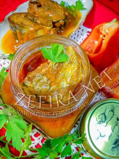 Сельдь тушеная в томате с овощами - рецепт и фото