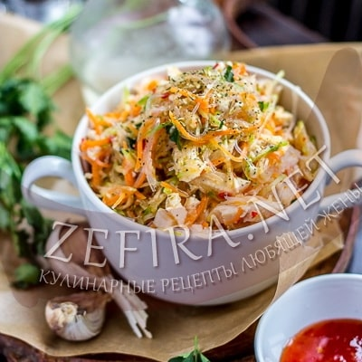 рецепт салатов из крабовых палочек с апельсином