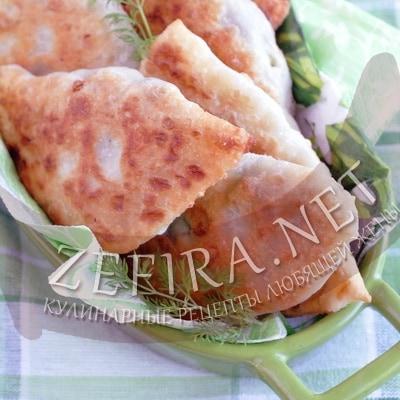 Постные жареные пирожки с картошкой и грибами