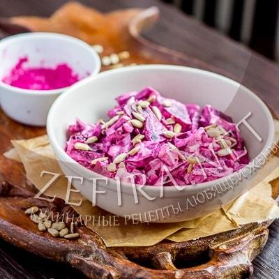 Салат из свеклы со сметаной и семечками