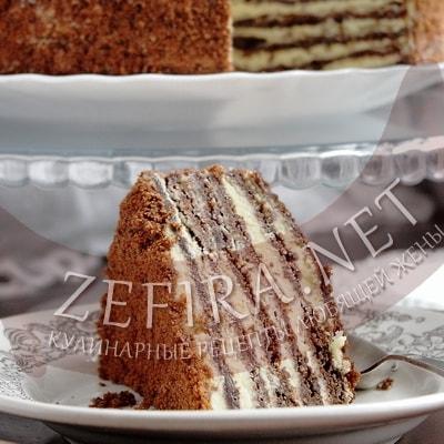 Торт «Шоколадный медовик» с заварным кремом
