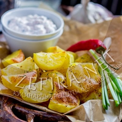 ПП картофель, запеченный в духовке