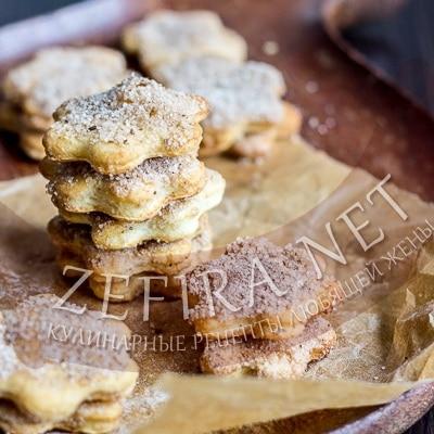 Песочное печенье – рецепт с сахаром и корицей