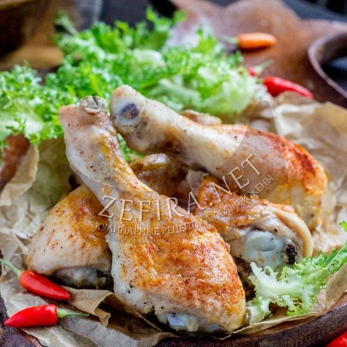 Курица, запеченная в паприке в духовке
