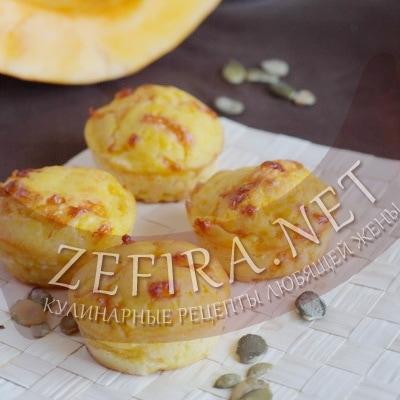 Сырные кексы с тыквой
